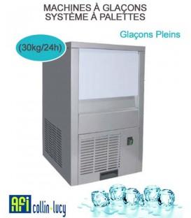 MACHINES À GLAÇONS PLEIN SYSTÈME À PALETTES (30kg/24h)