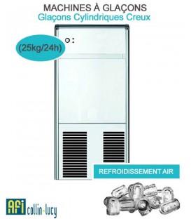 MACHINES À GLAÇONS CYLINDRIQUES CREUX SYSTÈME (21kg/24h) AFI-MGP25A