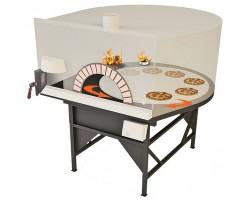 Four à pizza rotatif ETNA a deux bouches avec panneau de commande digitale TOUCH SCREEN
