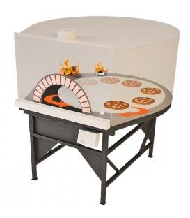 Four Rotatif 1 bouche à Bois, à Gaz ou Mixte Bois/Gaz pour pizzeria et restaurant