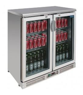 Arrière-bar 180 bouteilles Polar Série G - Portes battantes