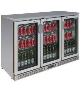 Arrière-bar portes à charnières 273 bouteilles Polar Série G - Portes Pivotantes double vitrage