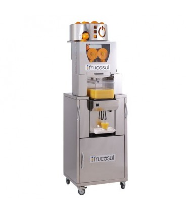 Presse Agrumes compact squeezer entièrement automatisé avec unité de refroidissement.