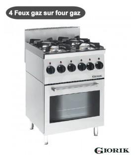 Fourneau Gaz 4 feux sur four gaz