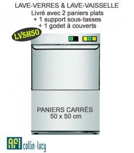 Lave-verres et couverts avec panier carré de 50 x 50 cm - EFI LVSH50