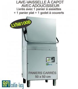 LAVE-VAISSELLE À CAPOT PROFESSIONNEL AVEC ADOUCISSEUR LVSH100D