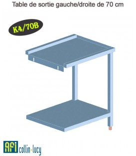 Table de sortie gauche/droite de 70 cm - K4/70B - EFI