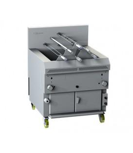 Grill à gaz horizontal MULTIFONCTIONNEL, avec la grille fixe et/ou rotative Line 9 GHPI R6/850