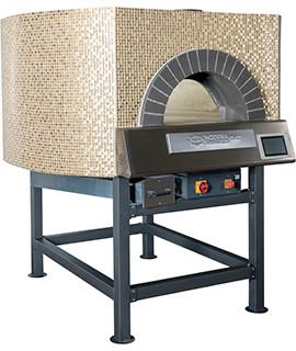 Four a pizza rotatif hybride mixte bois/gaz