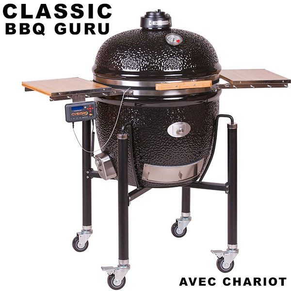 GRILL ÉDITION MONOLITH BBQ-GURU CLASSIC AVEC CHARIOT